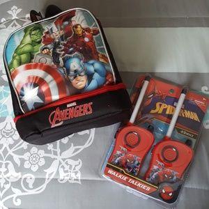 Marvel Superhero Walkie Talkie & Lunch Bag